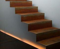 Corten Steel Steps Landscape Feature Pot Company Esi