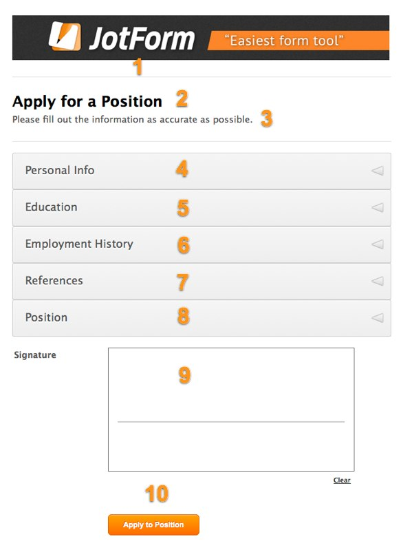 Job Application Form 101 JotForm