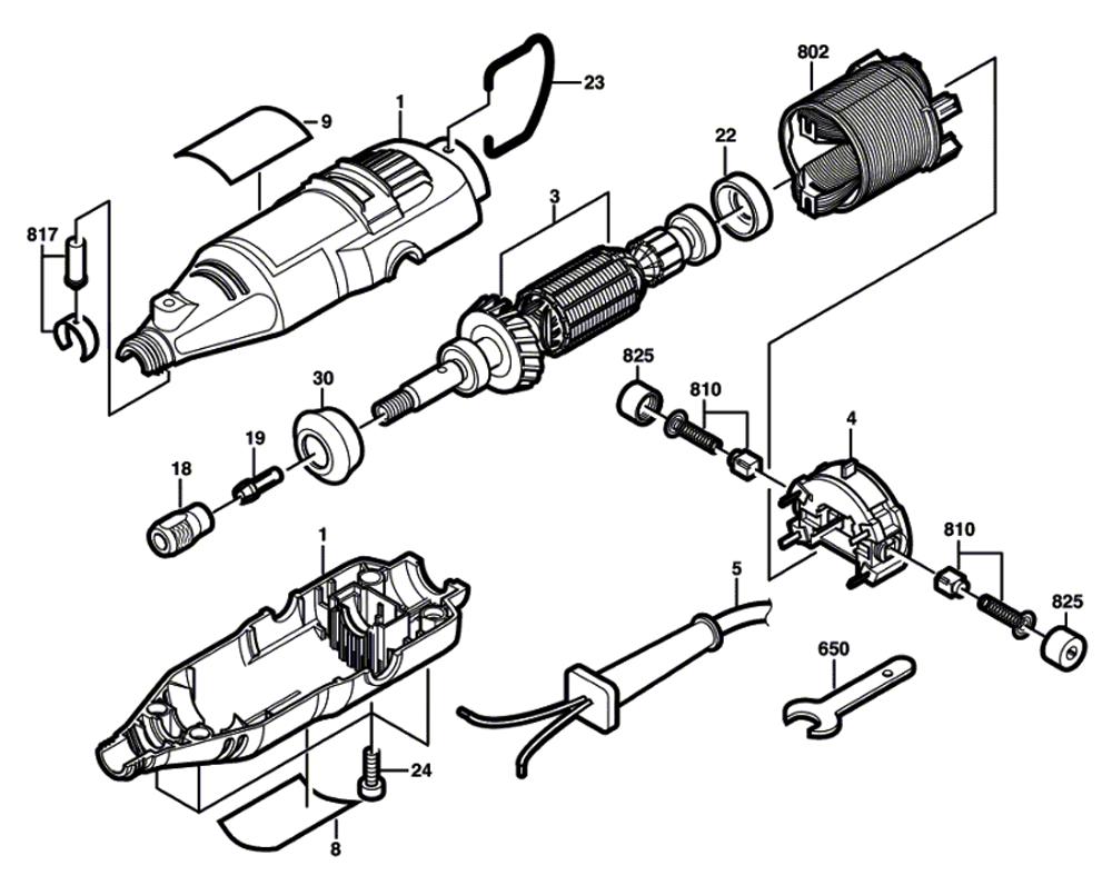 tool parts dremel 215 f013027506 electric rotary tool diagram