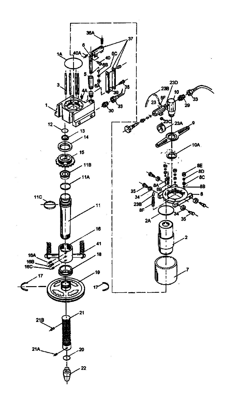 hydraulic press diagram