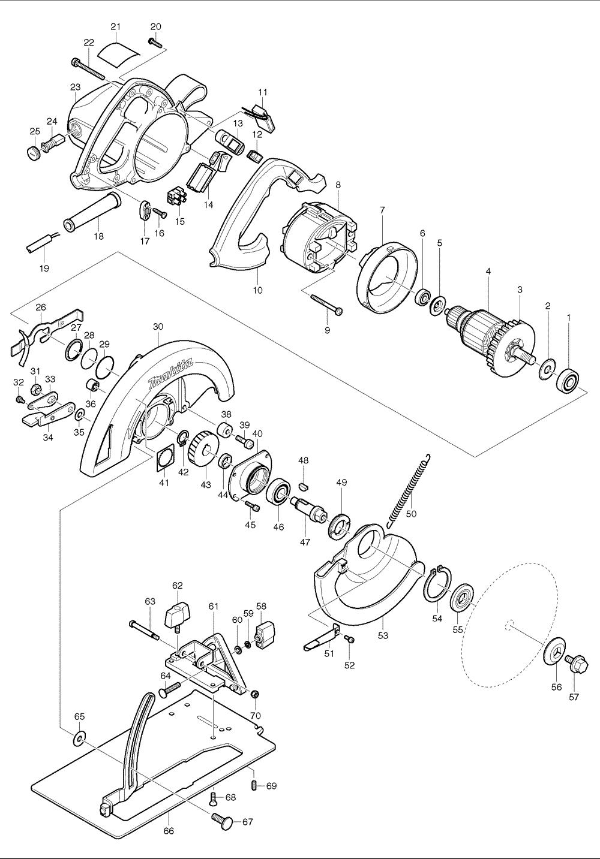 makita 5008fa circular saw parts
