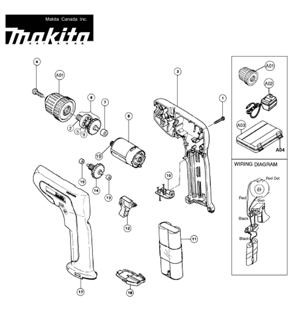 makita 9227c wiring diagram