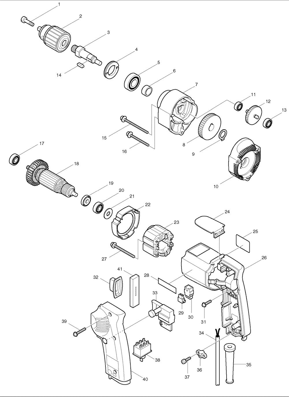 makita electric drill wiring diagram 36 wiring diagram