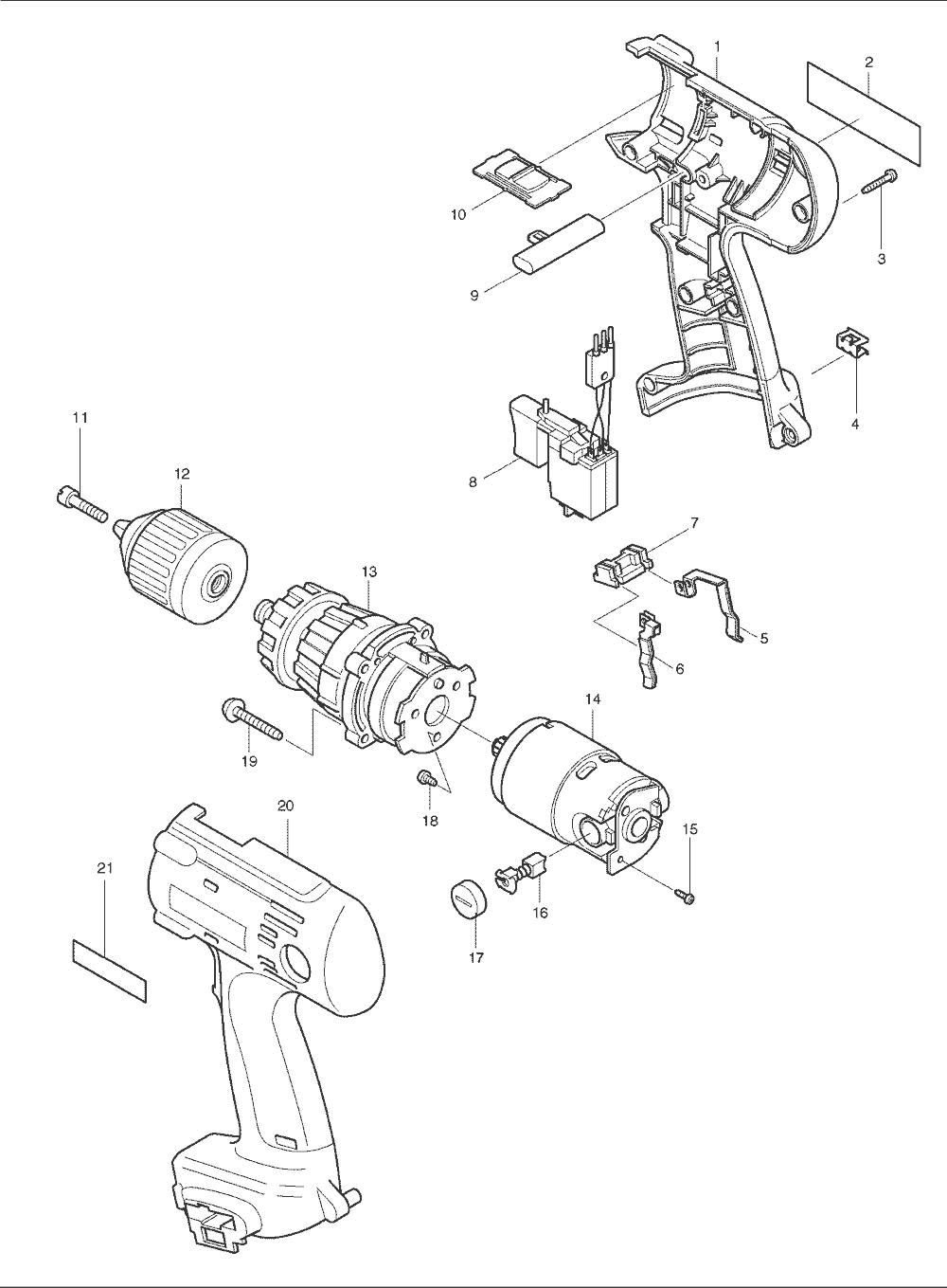 makita electric drill wiring diagram