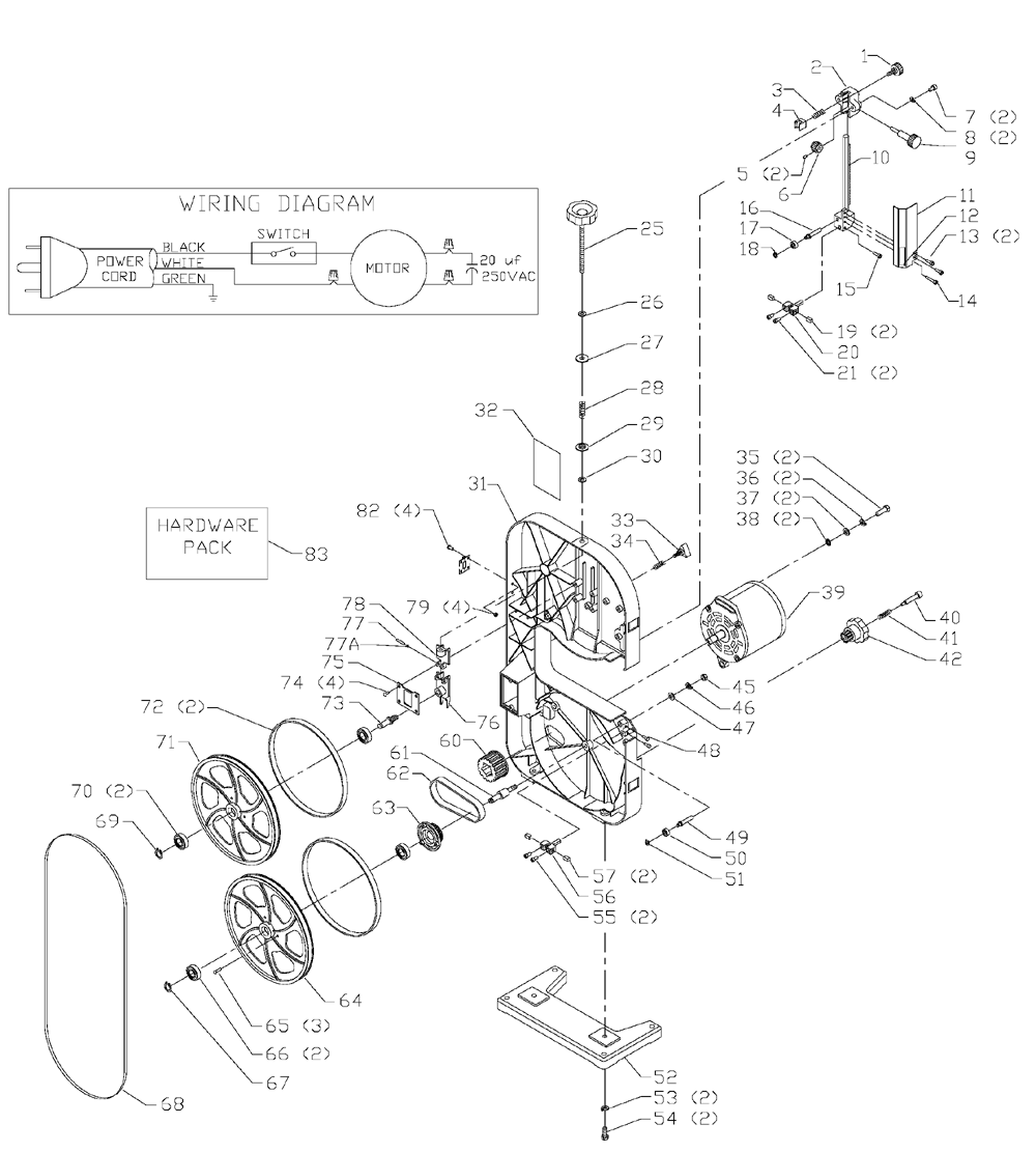 delta 11120 parts list and diagram type 1