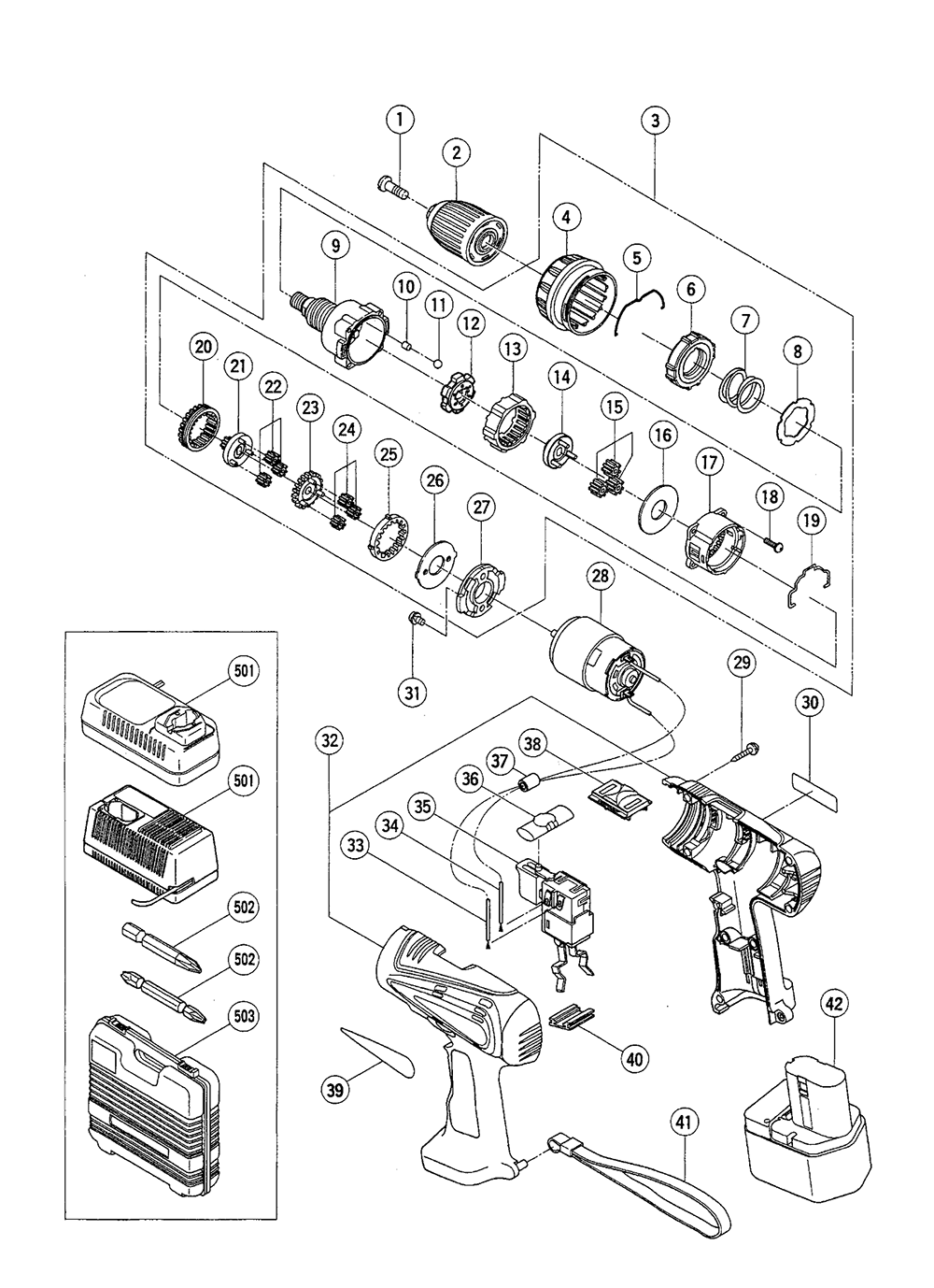 milwaukee power drill switch wiring diagrams