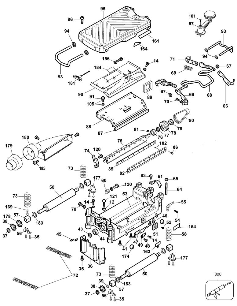 dewalt dw734 parts diagram