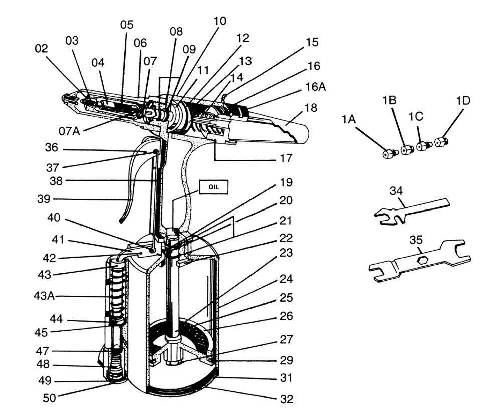 rivet gun parts diagram
