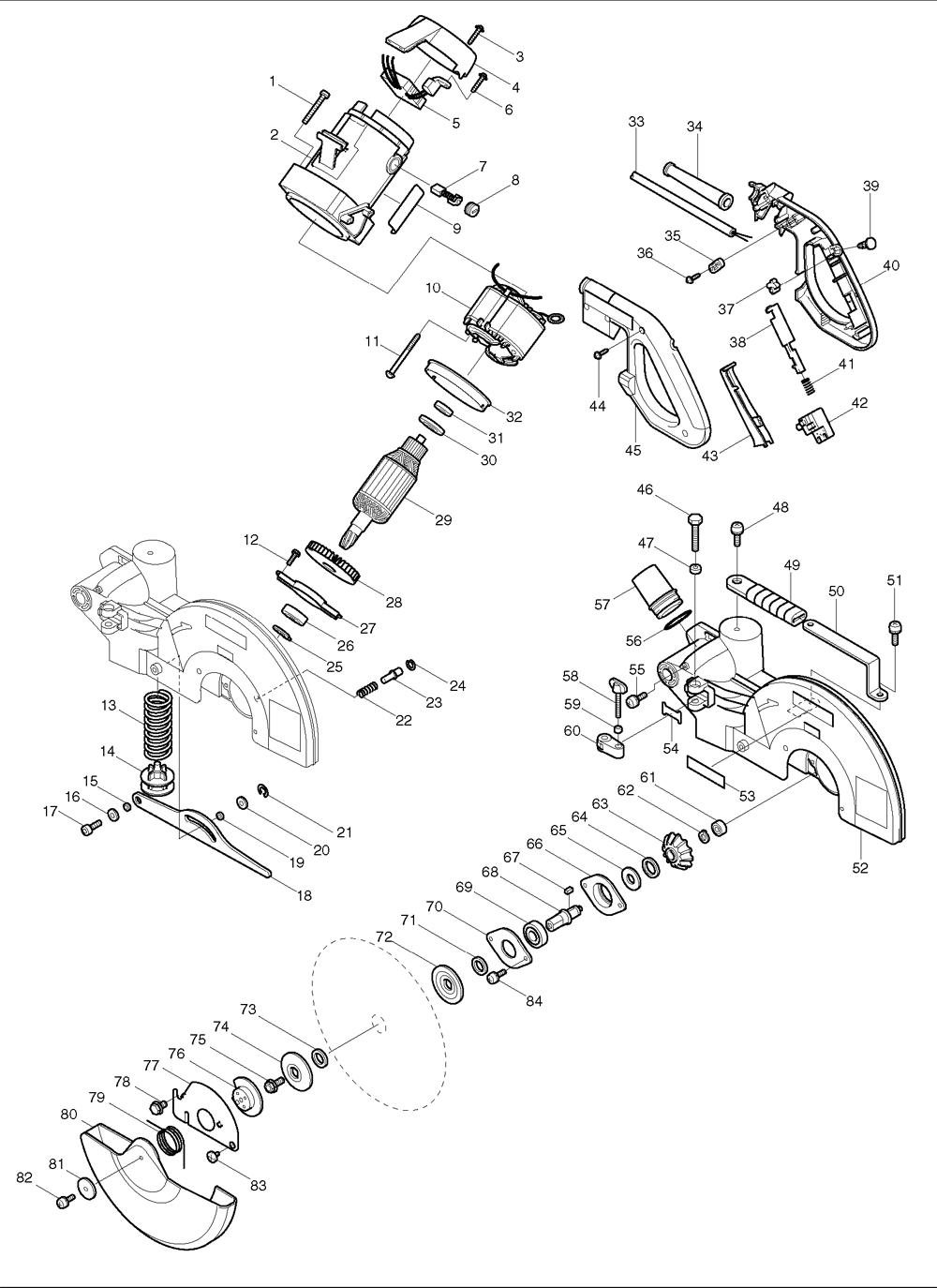 makita miter saw switch wiring diagram