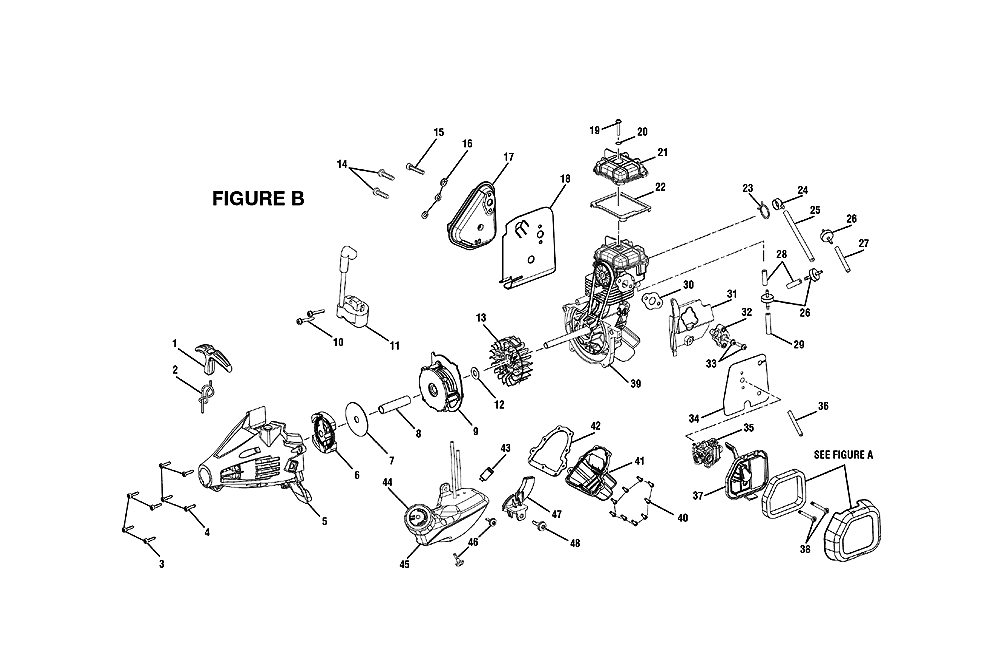 replacement tool parts ryobi ry34426 electric trimmers parts diagram
