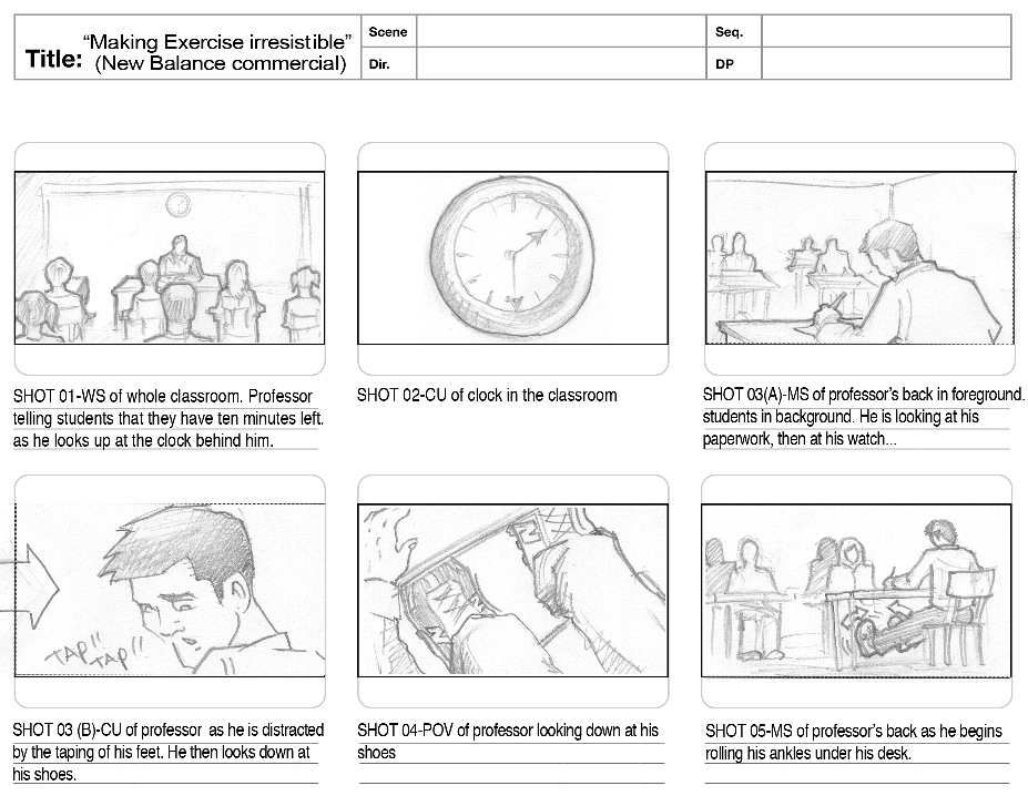 Storyboarding Assignment Due 10/1/12 beginning of class CMS 110