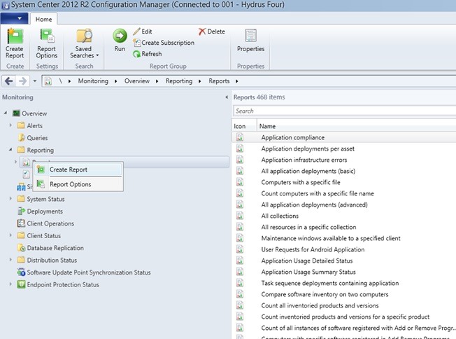 How to Create custom SQL- based Reports in System Center 2012 R2