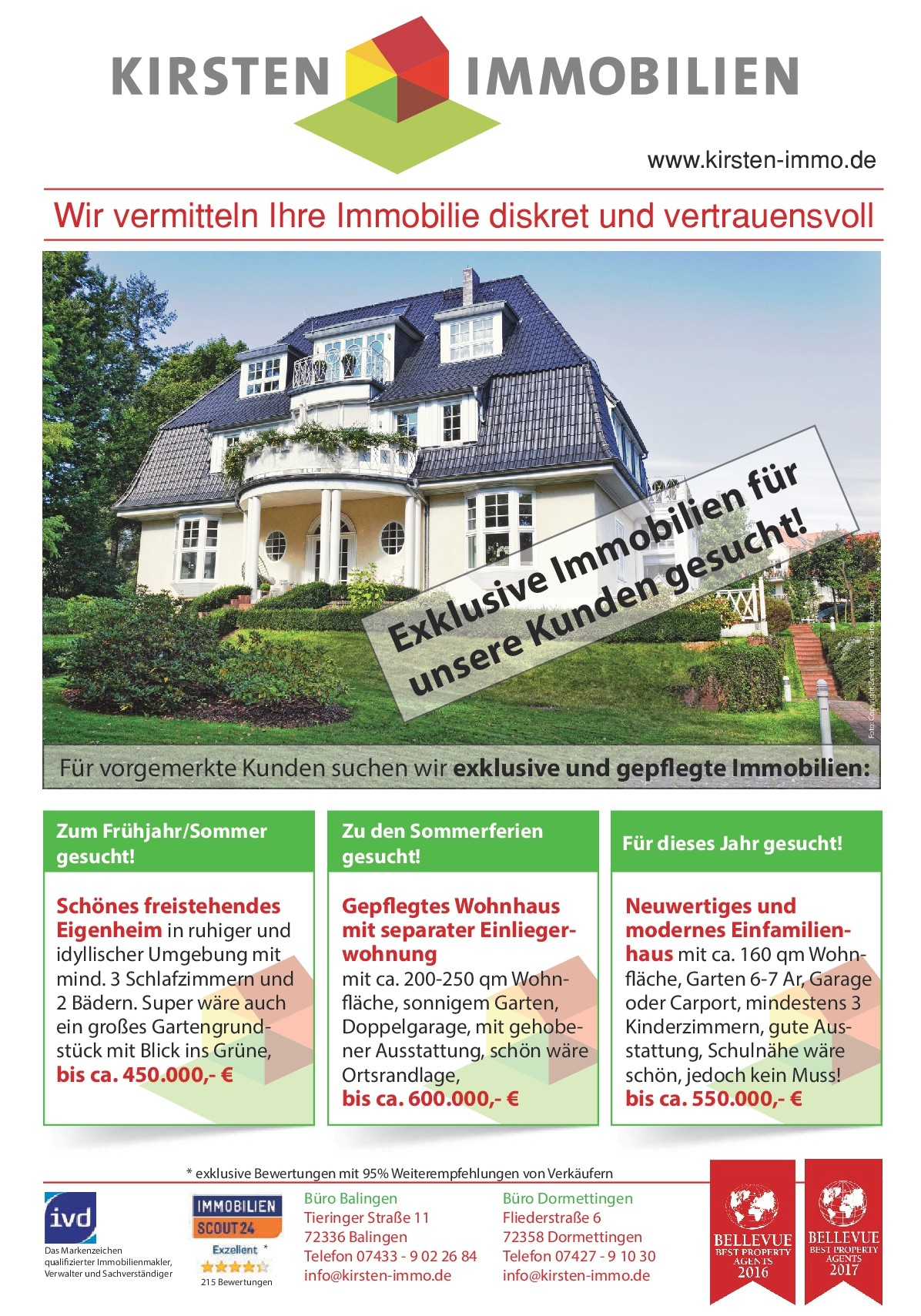 Immo Imobilien Immo Gesuche Kirsten Immobilien E K