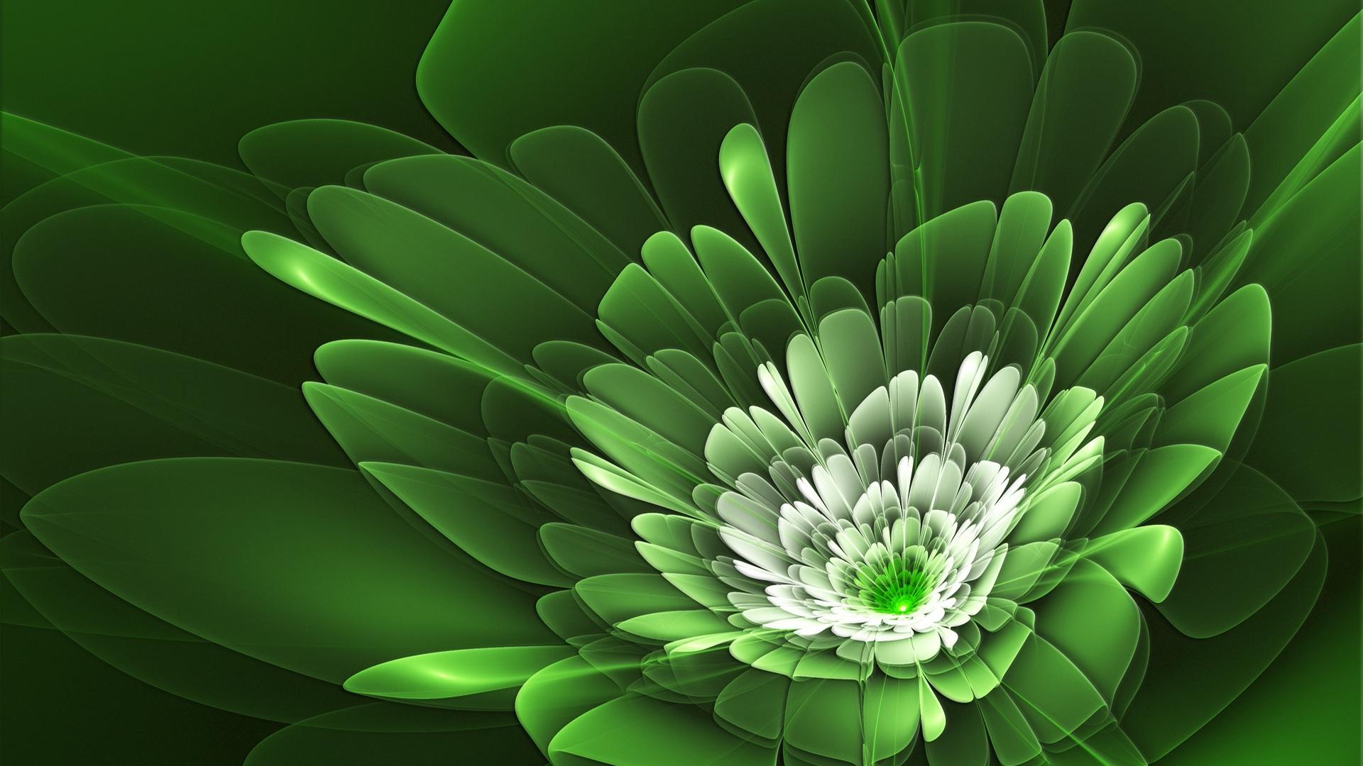 Iphone 5s Wallpaper 3d 壁纸 花瓣是绿色的 1920x1200 Hd 高清壁纸 图片 照片