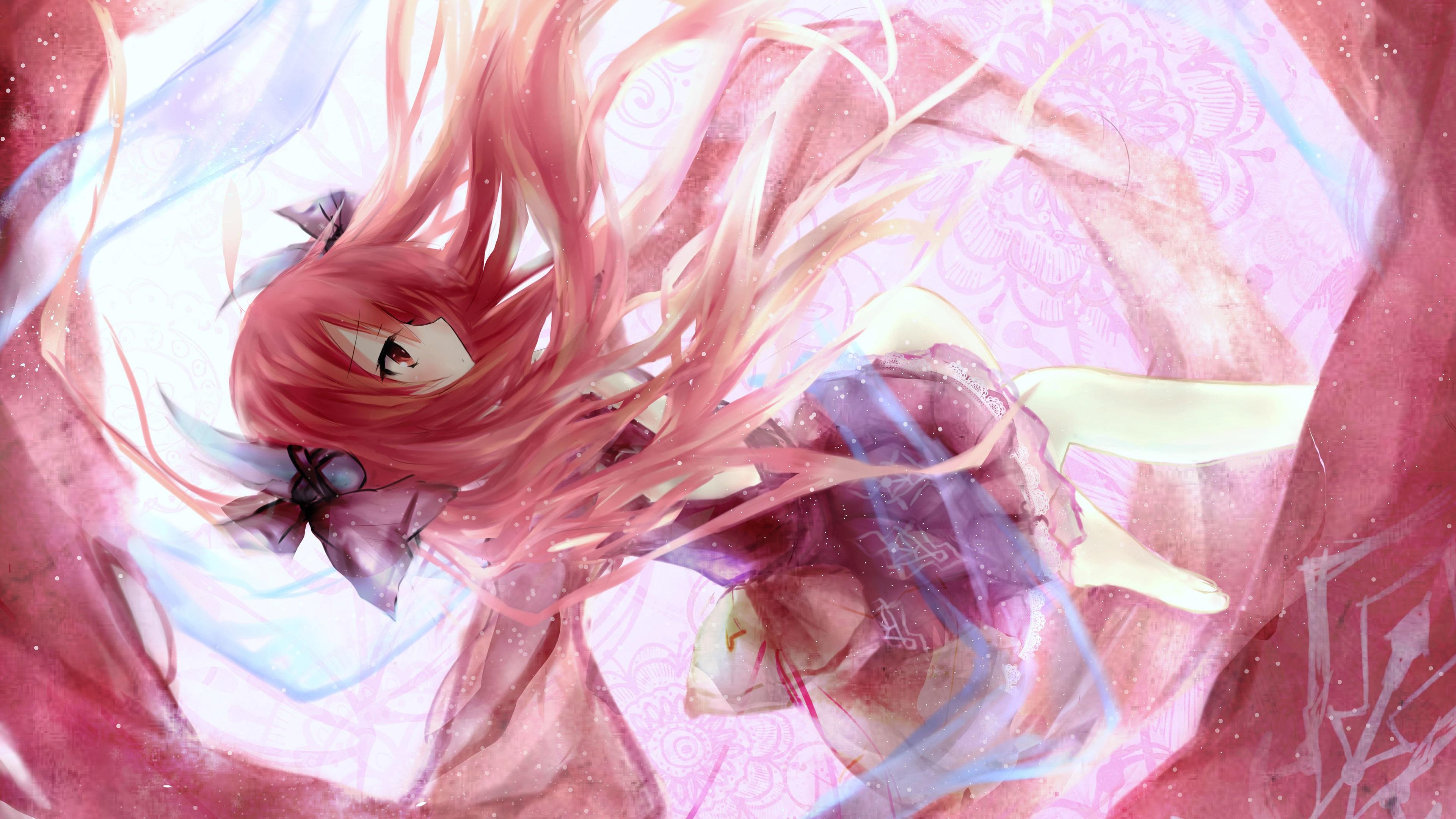 Iphone 3gs Wallpaper Hd 壁纸 粉红色的头发动漫女孩跳舞 3840x2160 Uhd 4k 高清壁纸 图片 照片