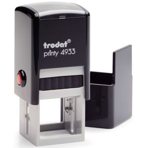 "trodat-4933b Trodat Original Printy 4933 Custom Self-Inking Stamp (25 mm or 0.9"" square)"