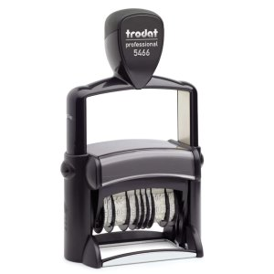 "trodat-5466PL Trodat Professional 5466/PL Custom Self-Inking Stamp (33 x 56 mm or 1.3 x 2.6"" with double dater)"