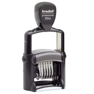"trodat-5546 Trodat Professional 5546 Custom Self-Inking Stamp (4 mm or 0.15"" high NUMBERER ONLY)"