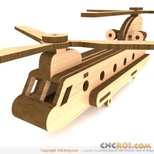 cnc-laser-chinook-helicopter CH-47 Chinook Helicopter