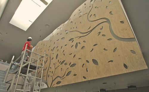 3d Curved Wallpaper Cnc Routing Nandos Chilli Tree