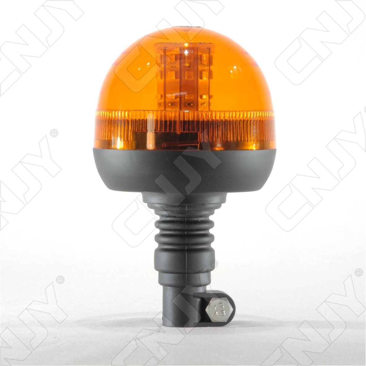 Eclairage Led Agricole Gyrophare 40 Led 12w Orange Sur Mât Flexible Ece R65