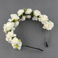 Wedding Hair Flower Garland | orchids wedding hair garland ...