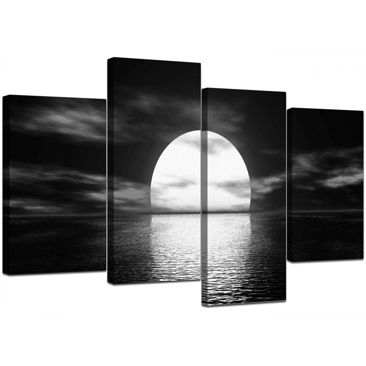 Black And White Canvas Prints Black And White Canvas Ocean Sunset Canvas Wall Art