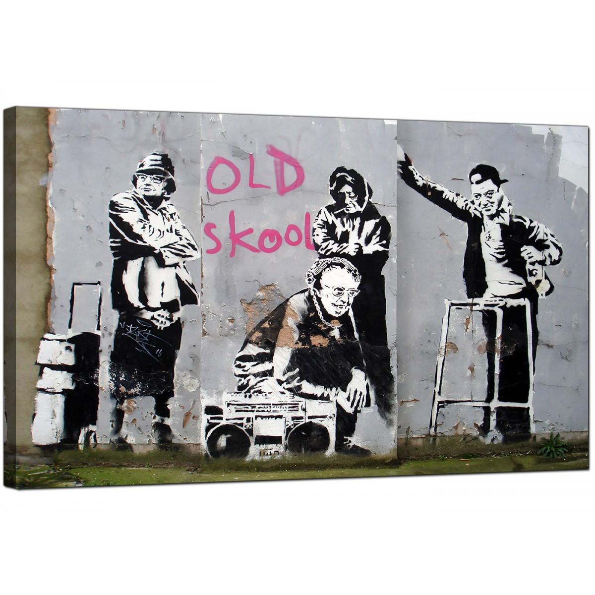 Purple And Black Bedroom Wallpaper Banksy Canvas Prints Old Skool