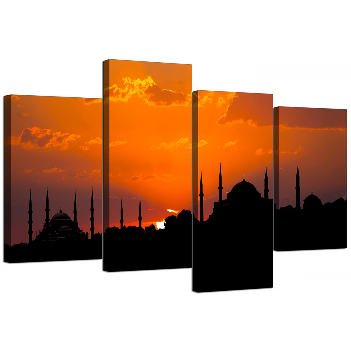Cheap Canvas Pictures Islamic Canvas Prints Of An Istanbul Sunset For Your