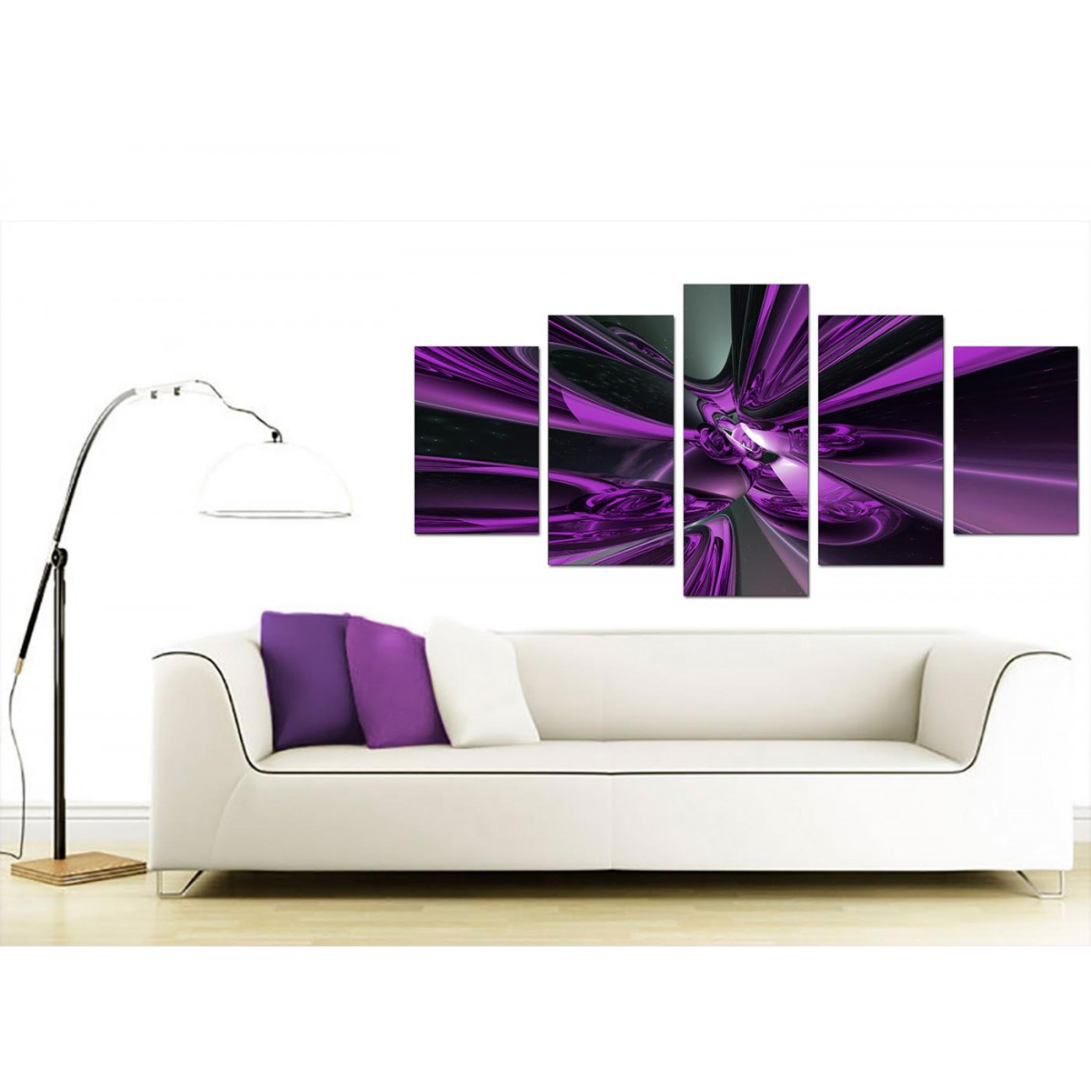 Large Canvas Prints Cheap Extra Large Purple Abstract Canvas Prints Uk 5 Piece