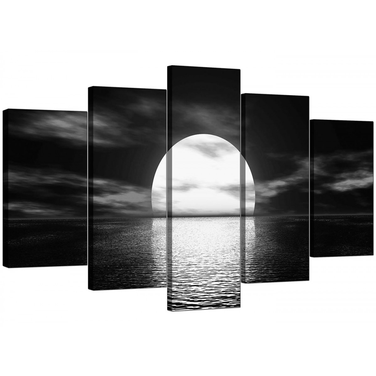 Large Black And White Posters Extra Large Sunset Canvas Prints Uk Set Of Five In Black