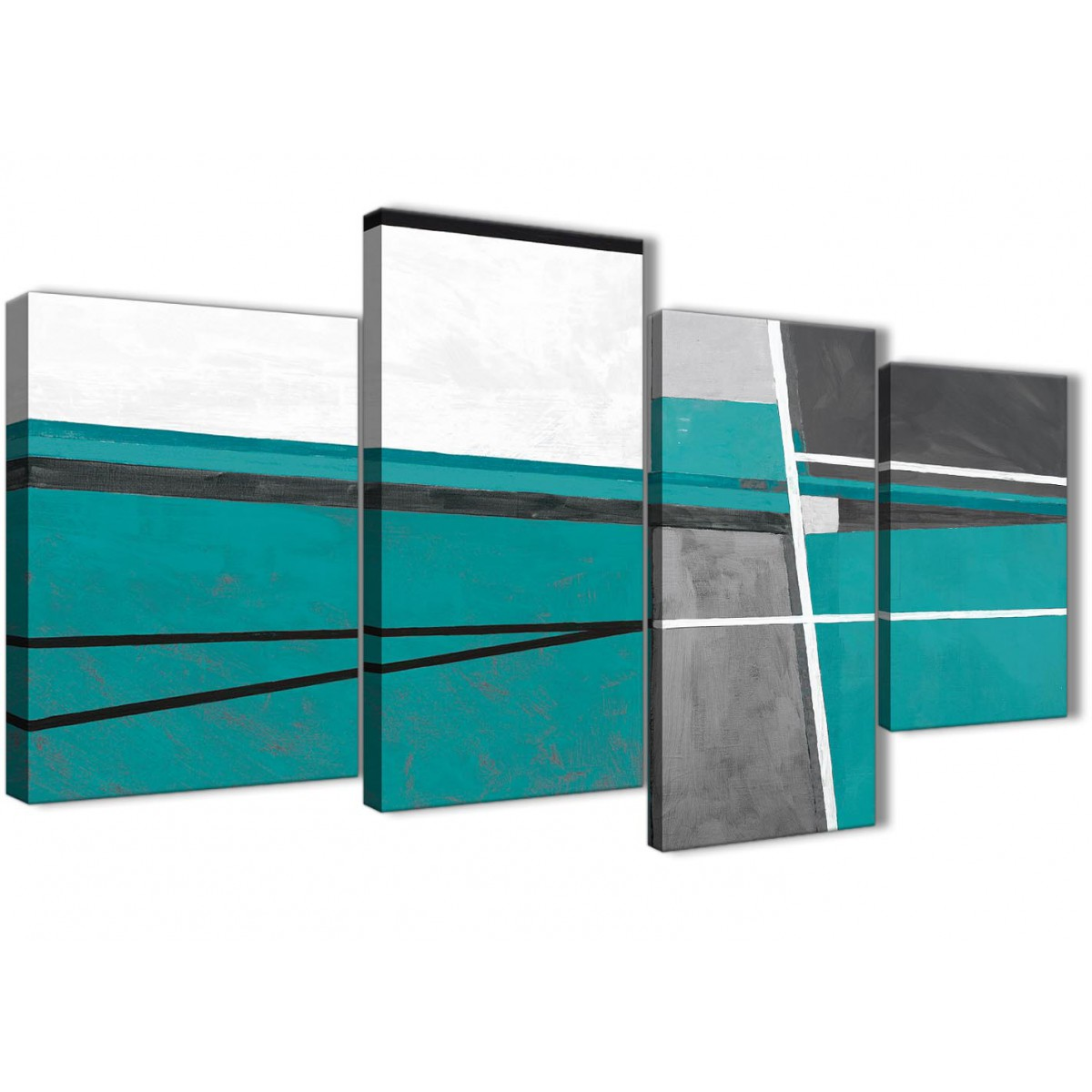 Large Canvas Prints For Living Room Large Teal Grey Painting Abstract Bedroom Canvas Wall Art