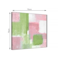 Pink Lime Green Abstract Hallway Canvas Pictures Decor ...