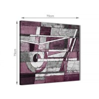 Plum Grey White Painting Abstract Office Canvas Pictures ...