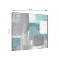 Teal Grey Painting Abstract Dining Room Canvas Pictures ...