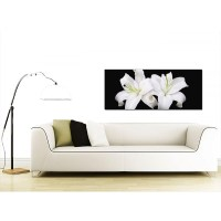 Large Black and White Canvas Prints of Lily Flowers