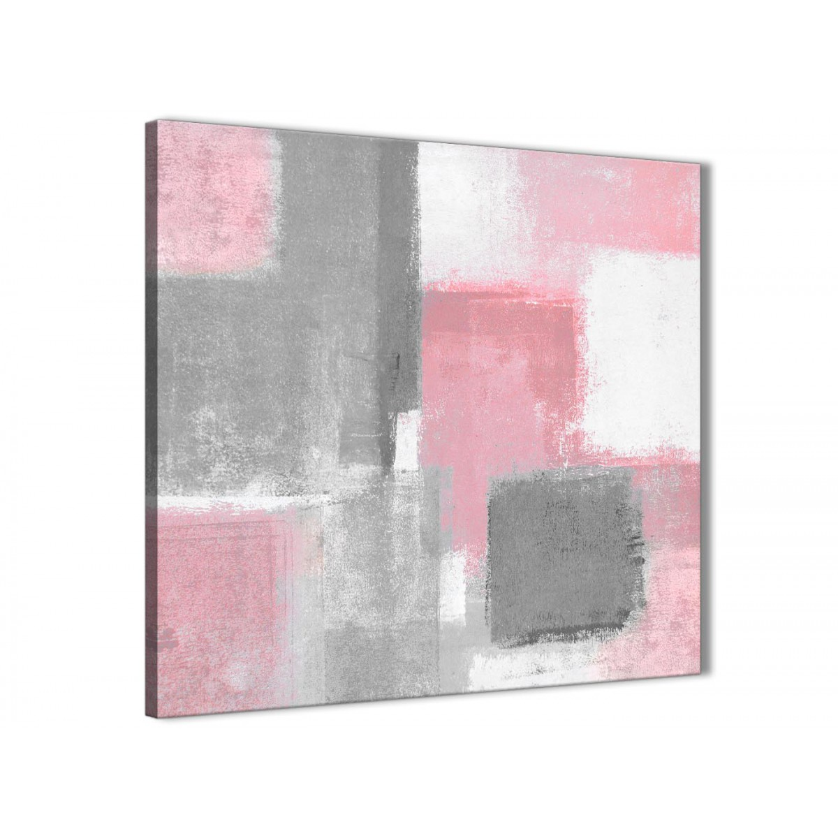Blush Pink Grey Painting Abstract Hallway Canvas Wall Art