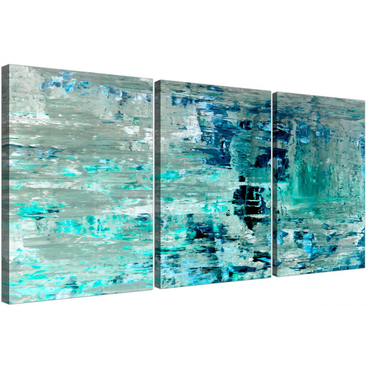 Abstract Art Prints On Canvas Turquoise Teal Abstract Painting Wall Art Print Canvas Split 3 Piece 3333