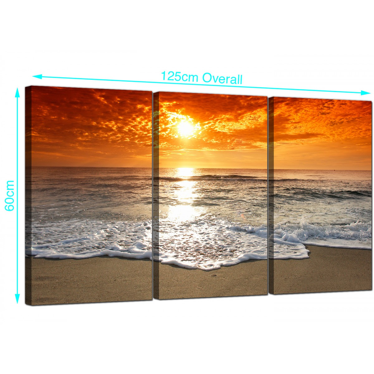 Cheap Canvas Pictures Cheap Beach Sunset Canvas Prints Uk Set Of 3 For Your