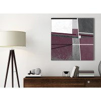 Plum Purple Grey Painting Kitchen Canvas Pictures ...