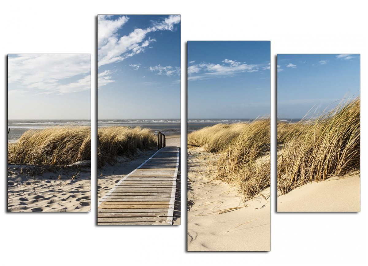 Cheap Canvas Pictures Canvas Wall Art Of A Beach For Your Living Room Set Of Four