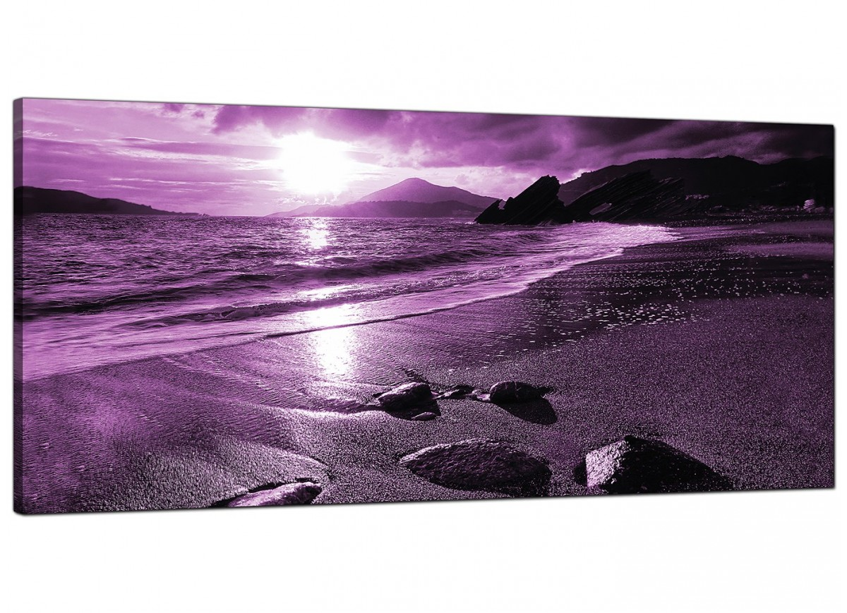Cheap Canvas Pictures Cheap Purple Canvas Pictures Of A Beach Sunset