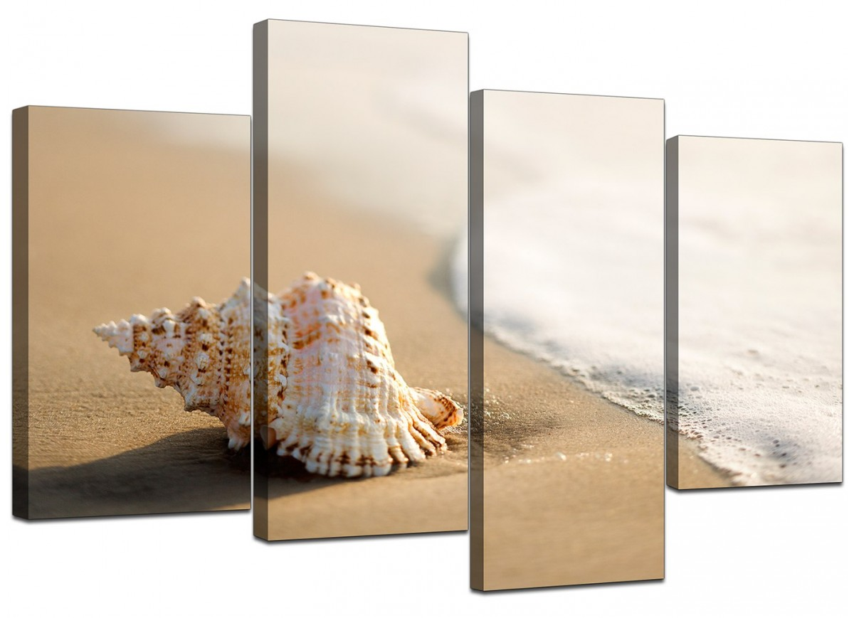 Cheap Canvas Pictures Cheap Beach Canvas Pictures Four Panel