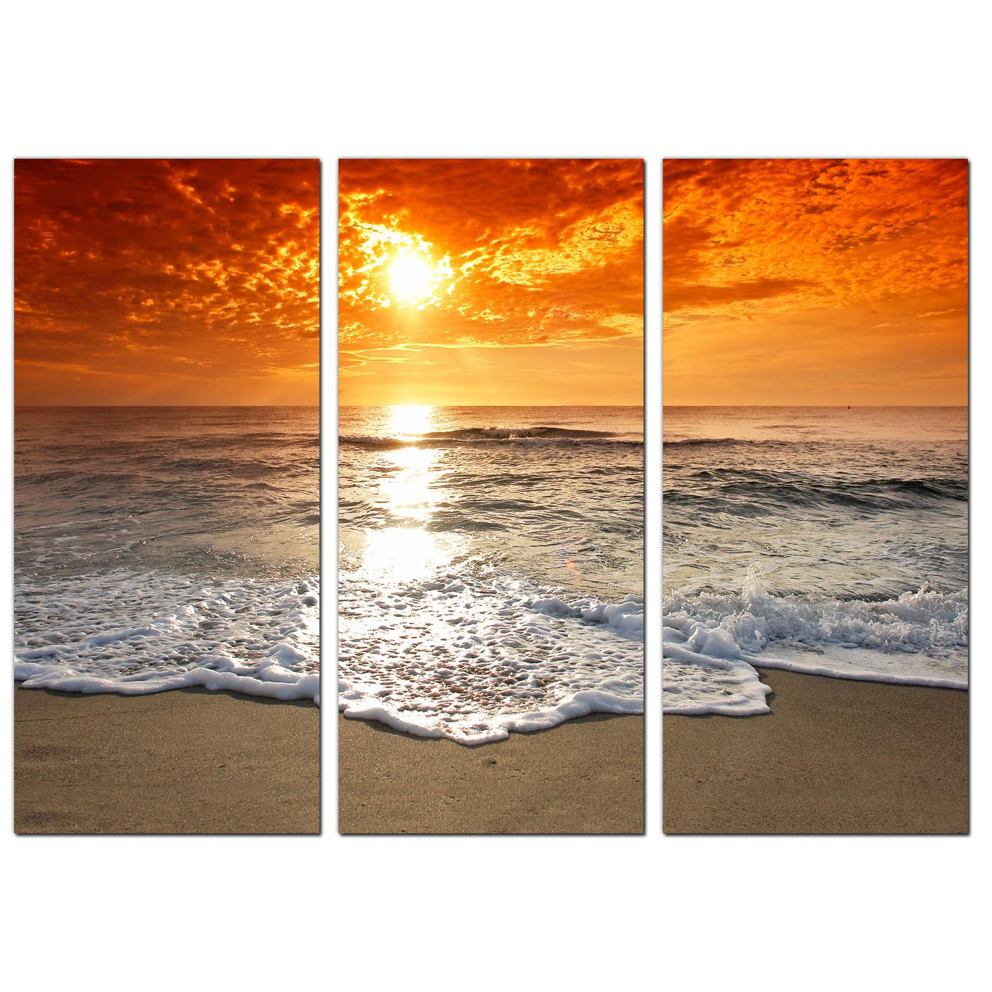 Beach Prints Cheap Beach Sunset Canvas Prints Uk Set Of 3 For Your