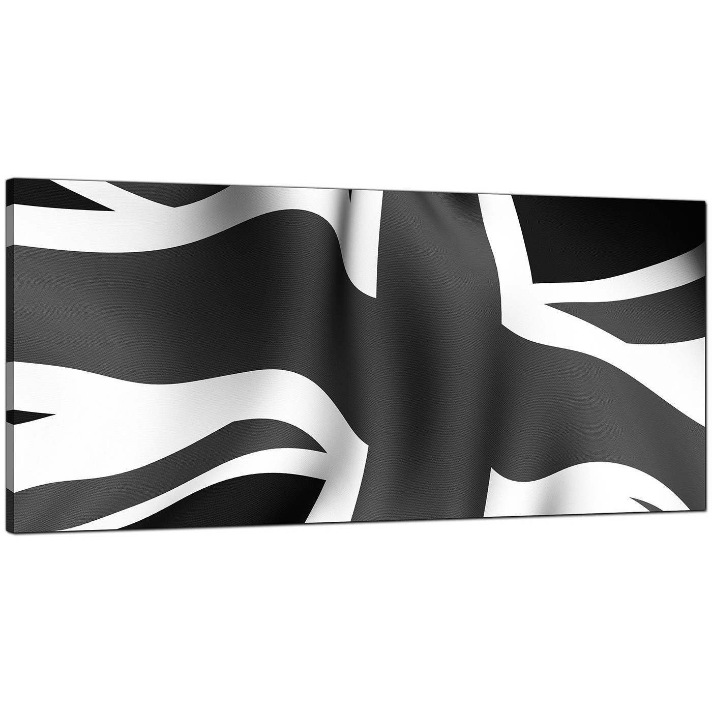 Black And White Canvas Pictures Large Black White Grey Union Jack Flag Abstract Modern Canvas Art 120cm 1019