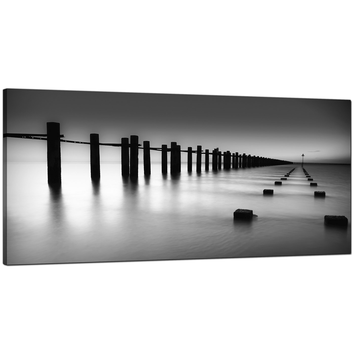 Large Black And White Posters Modern Black And White Canvas Art Of The Sea