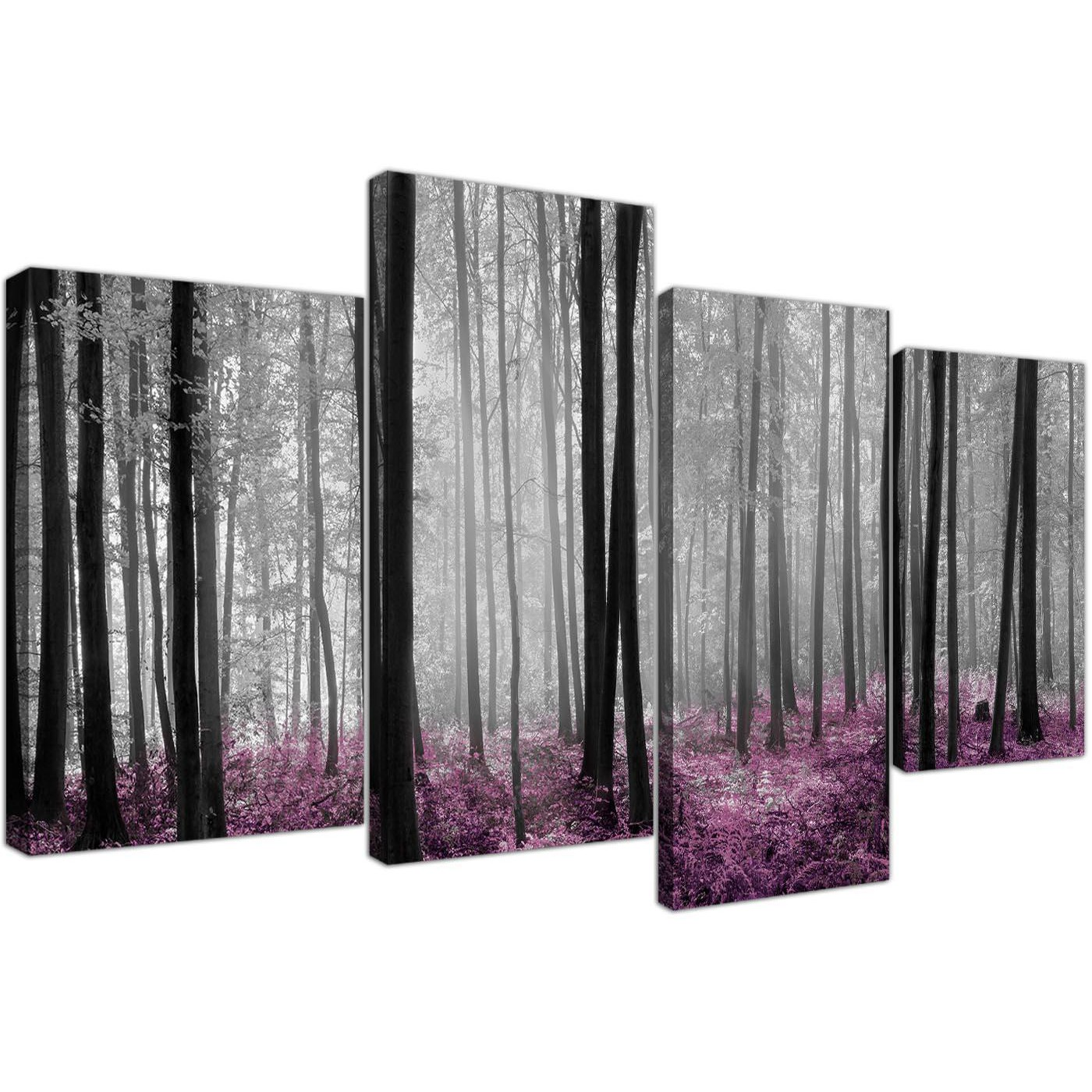 Cheap Canvas Pictures Black And White Plum Forest Woodland Trees Canvas Art