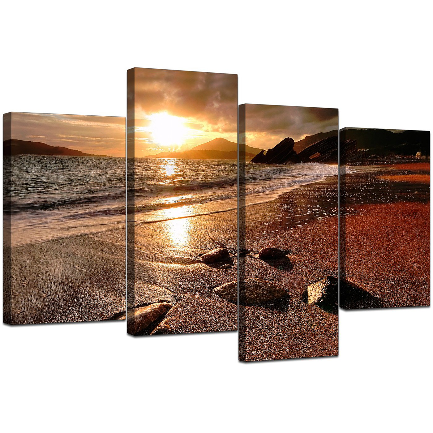 Canvas Art of Beach Sunset for your Living Room