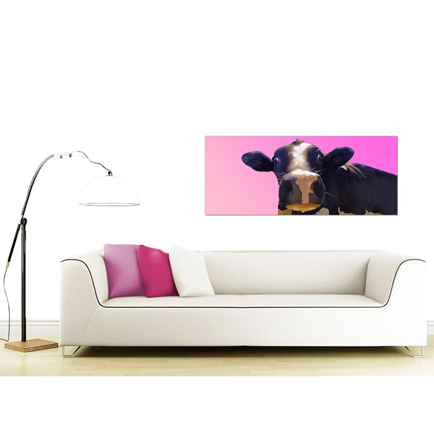 Large Canvas Prints Cheap Large Pink Canvas Prints Of A Cow