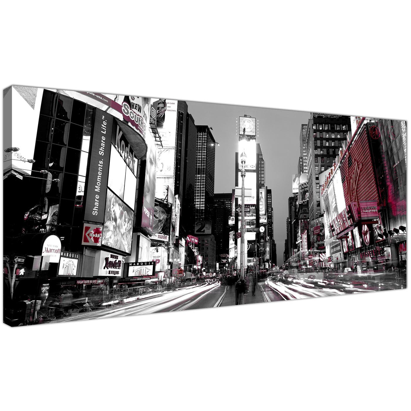 Black And White Canvas Prints Cheap Black And White Canvas Prints Of New York Times Square
